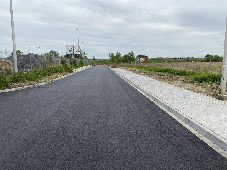Fragment drogi budowanej we współpracy z Gminą Kobierzyce.